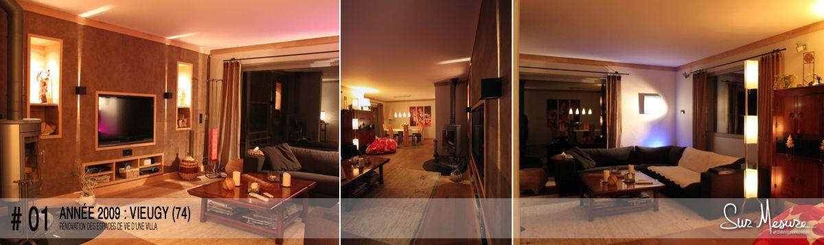 Rénovation des espaces de vie d'une villa à Vieugy (74) - 2009